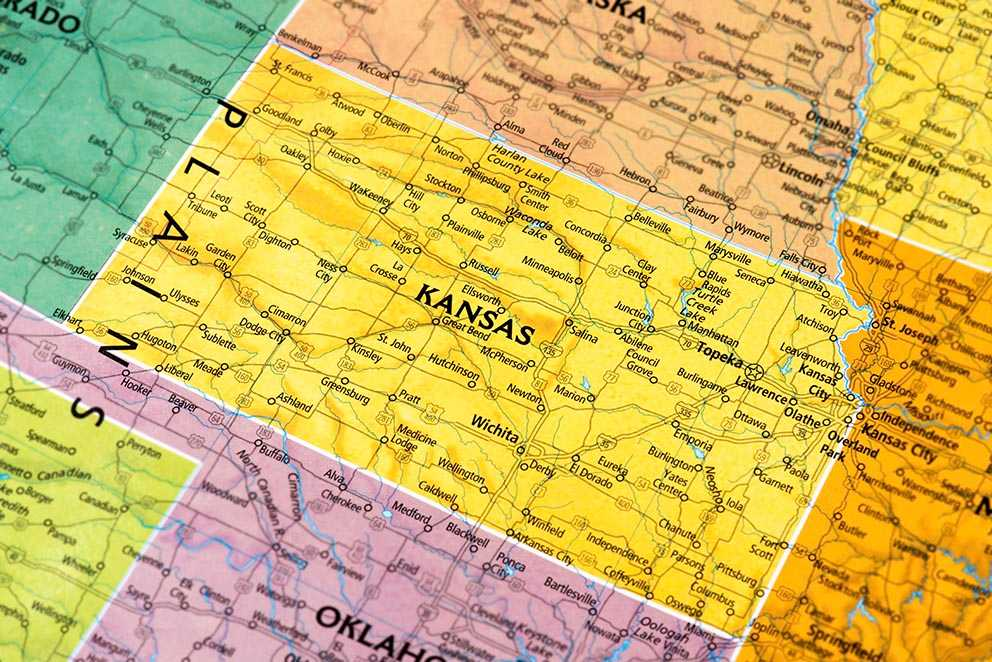 These Are The Safest Small Towns In Kansas Movoto - Kansas cities towns map