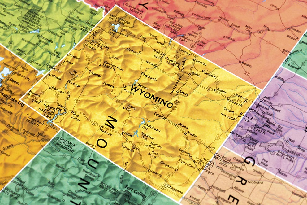 Top Cities In Wyoming Movoto - Cities in wyoming map